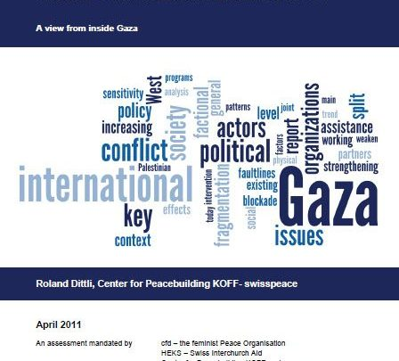 Photo of Conflict Sensitivity Assessment INTERNATIONAL ASSISTANCE IN GAZA: AIDING FRAGMENTATION OR UNITY?
