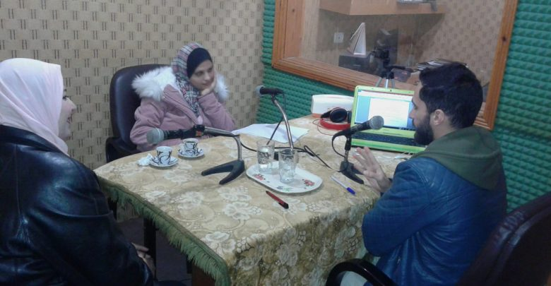 "Photo of Sixth episode of ""Youth Participate"" Radio Program: Youth Participation in Neighborhoods Committees: Between Reality and Dream."