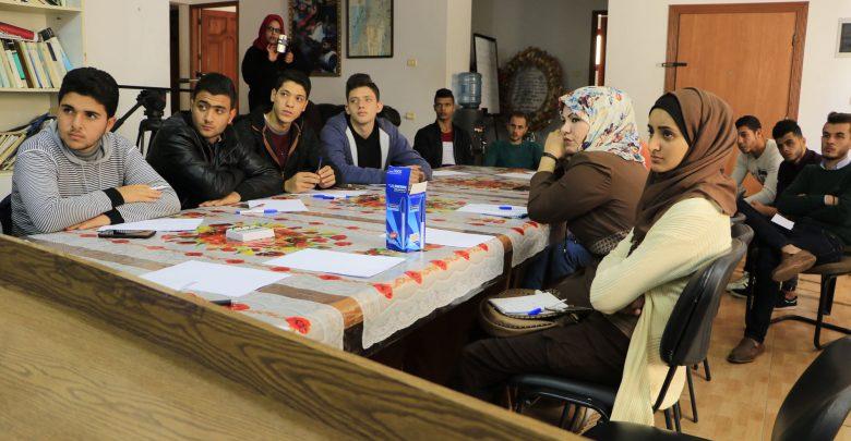 """صورة بالتعاون مع نقابة الصحافيين ،بال ثينك تنفذ ورشة عمل في غزة ضمن مشروع """"تعزيز التثقيف الديمقراطي"""""""