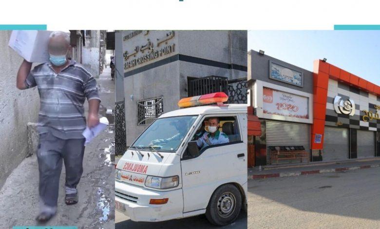 صورة ورقة سياسات: أثر أزمة كورونا على القطاعات الاقتصادية في قطاع غزة