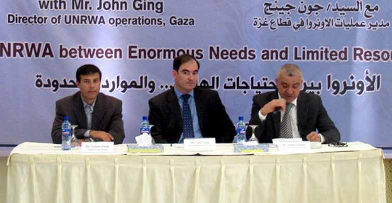 Photo of Session with Mr. John Ging- Director of UNRWA operations