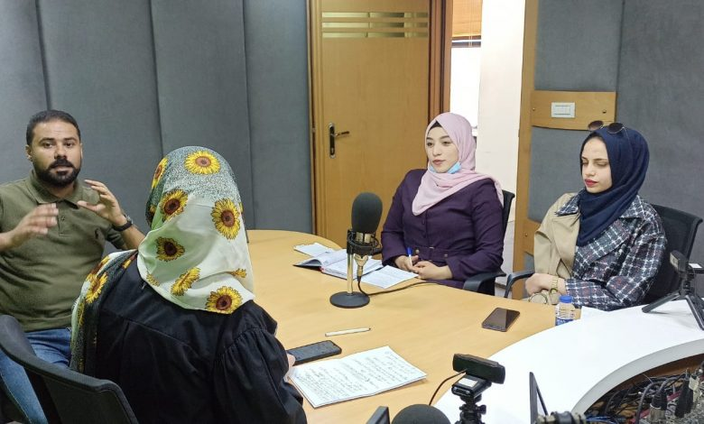 """Photo of During the """"Dialogue with Youth"""" Broadcast; Pal-Think Discusses Mechanisms for Promoting Democratic Values and Human Rights in Palestinian Society"""