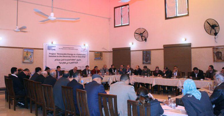 """Photo of بال ثينك للدراسات الاستراتيجية ومؤسسة فريدريش إيبرت الألمانية تنظمان جلسة نقاش حول: """"أهمية الطاقة المتجددة"""""""
