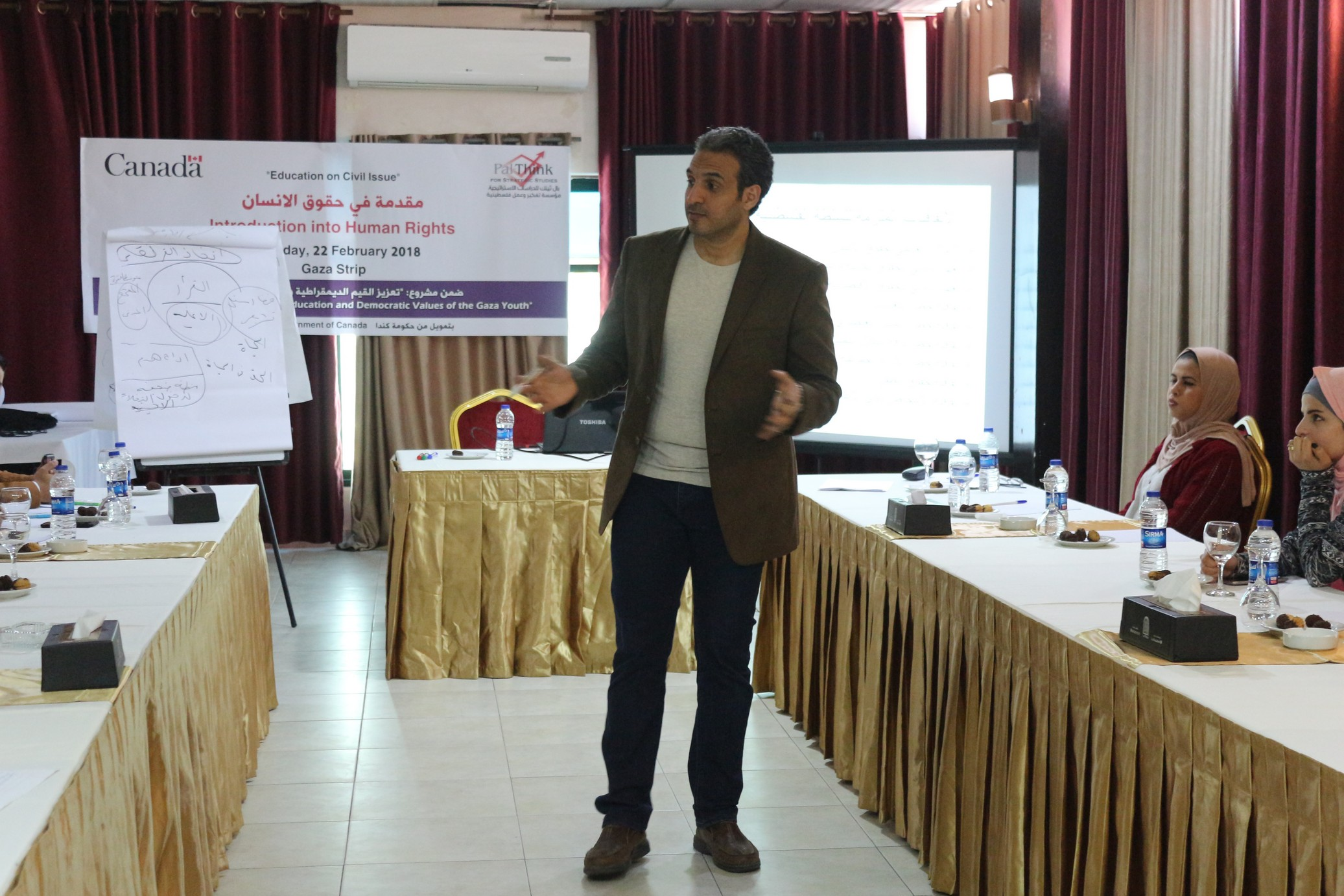 Photo of محاضرة في حقوق الأنسان للتوعية الديمقراطية لدى الشباب