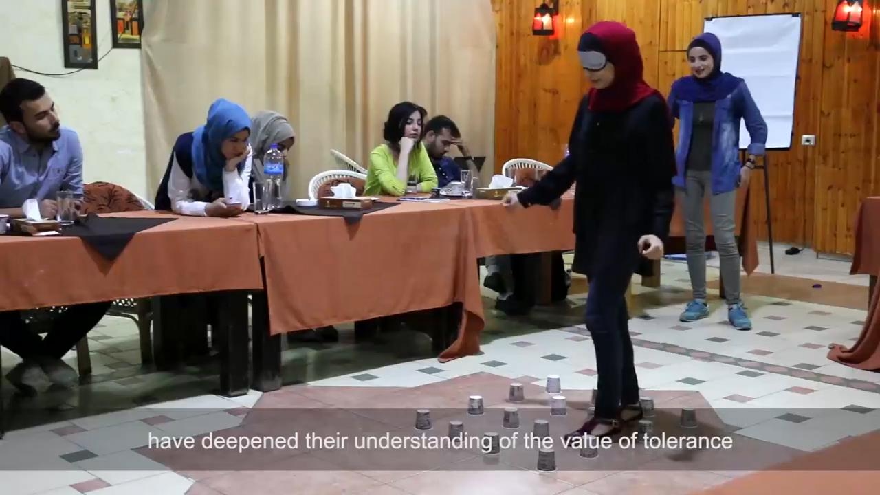 """صورة فيديو توثيقاً لأنشطة مشروع """"تعزيز التثقيف الديمقراطي"""""""