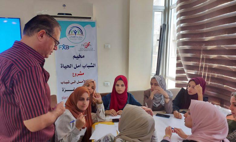 """صورة افتتاح مخيم """"الشباب أمل الحياة"""""""